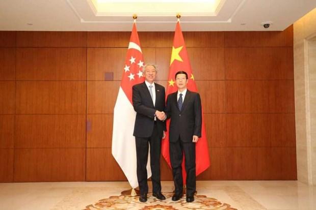 Singapore, China boost bilateral ties hinh anh 1