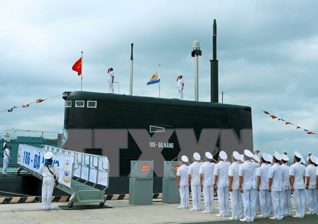 Flag-raising ceremony held for two new submarines hinh anh 1