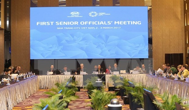 APEC SOM1 continues agenda, discussing cooperation plans hinh anh 1