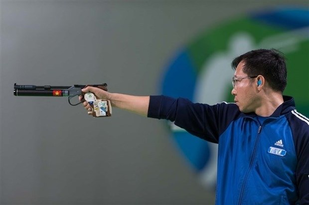 Hoang Xuan Vinh fails in World Cup's 50m pistol event hinh anh 1