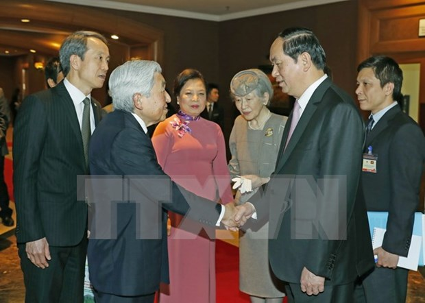 President says good-bye to Japanese royal couple hinh anh 1