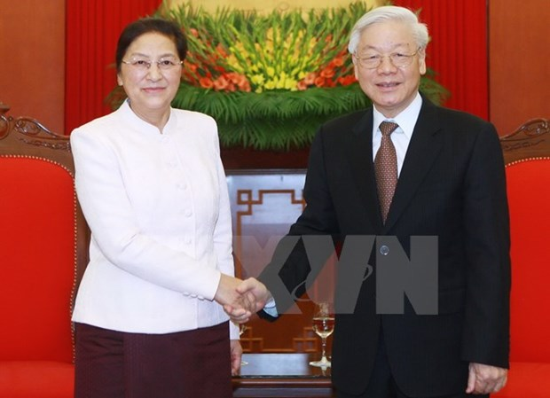 Lao NA Chairwoman pledges to implement set agreements hinh anh 1