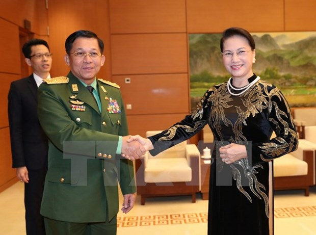 NA Chairwoman pledges further ties with Myanmar army, people hinh anh 1
