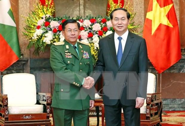 Vietnam, Myanmar boost military ties hinh anh 1