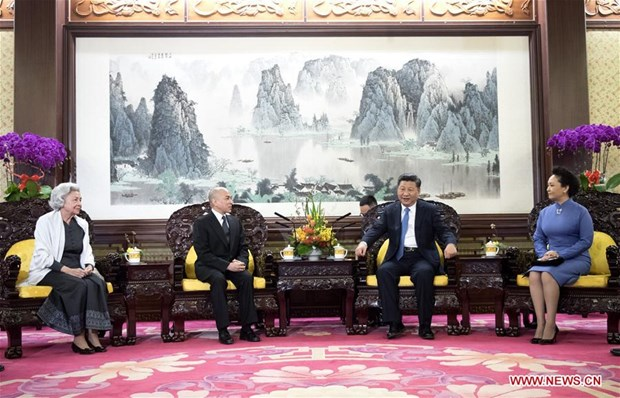 Chinese President meets Cambodian King hinh anh 1