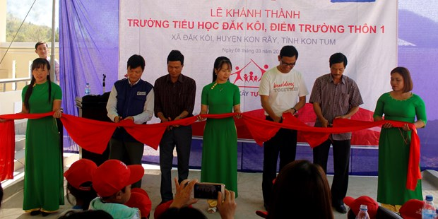 School for poor students inaugurated in Kon Tum hinh anh 1