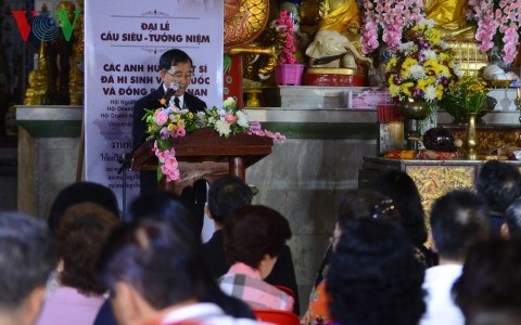 Requiem for Vietnamese fallen soldiers held in Thailand hinh anh 1
