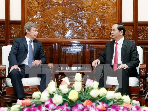 President receives newly-accredited ambassadors hinh anh 2
