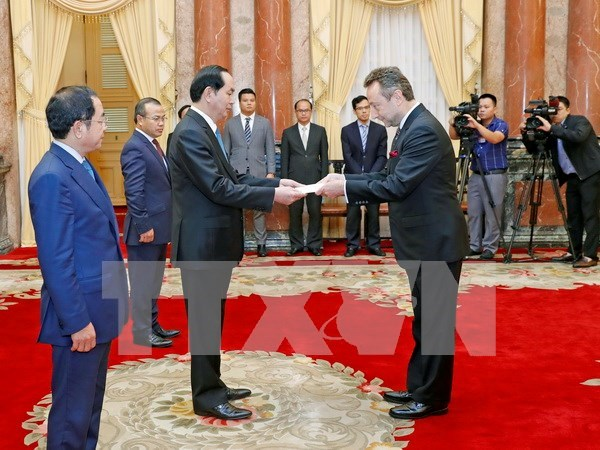 President receives newly-accredited ambassadors hinh anh 1