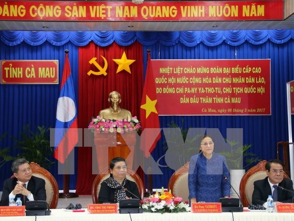 Laos' top legislator encourages local cooperation hinh anh 1
