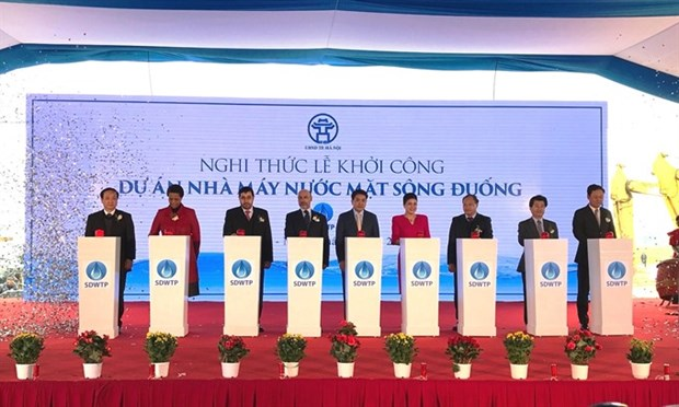 Work starts on Hanoi water plant hinh anh 1
