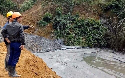 Broken pond pollutes rivers, kills fish hinh anh 1