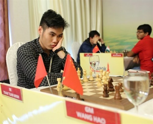 Vietnamese, Chinese players share top place at chess tourney hinh anh 1