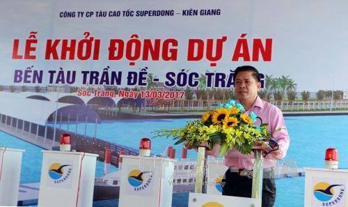 Work starts on wharf connecting with Con Dao hinh anh 1