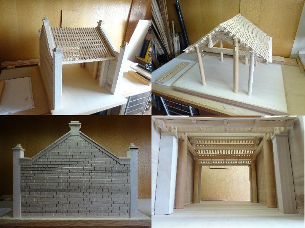 Japanese architect makes model of Vietnamese village gate hinh anh 1