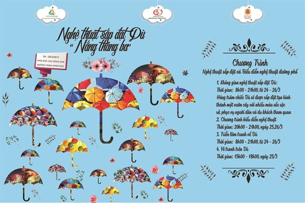 Umbrella installation to debut in Da Nang hinh anh 1