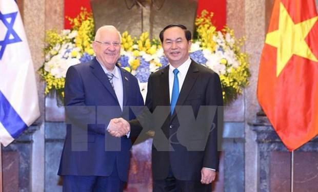 Vietnamese, Israeli Presidents hold talks hinh anh 1