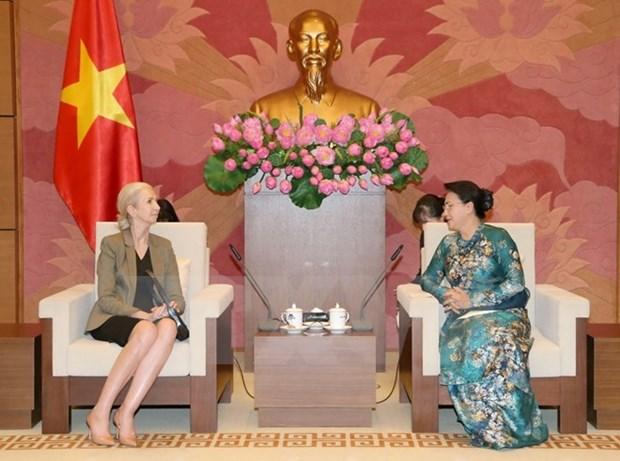 NA Chairwoman, Norwegian diplomat laud bilateral ties hinh anh 1