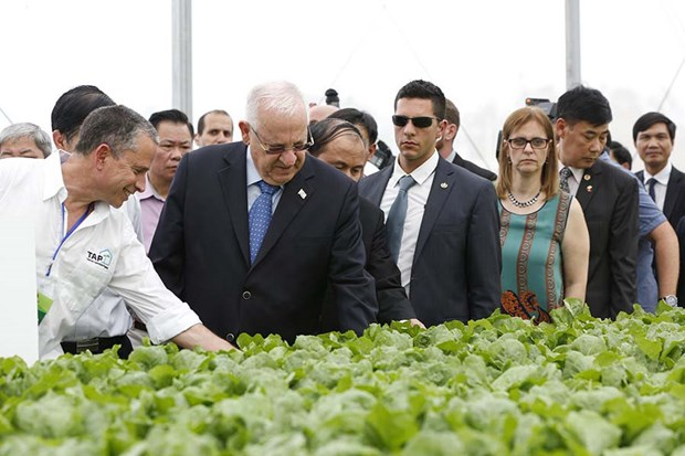 Israeli president visits hi-tech VinEco Tam Dao project hinh anh 1