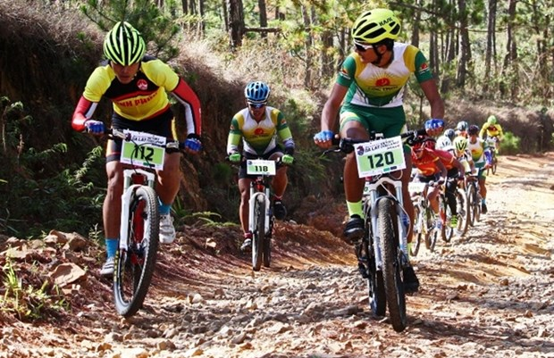 Int'l cycling tournament opens in Lam Dong hinh anh 1