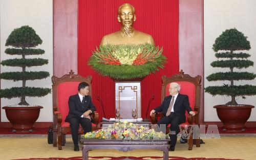 Party chief hosts Governor of Vientiane hinh anh 1