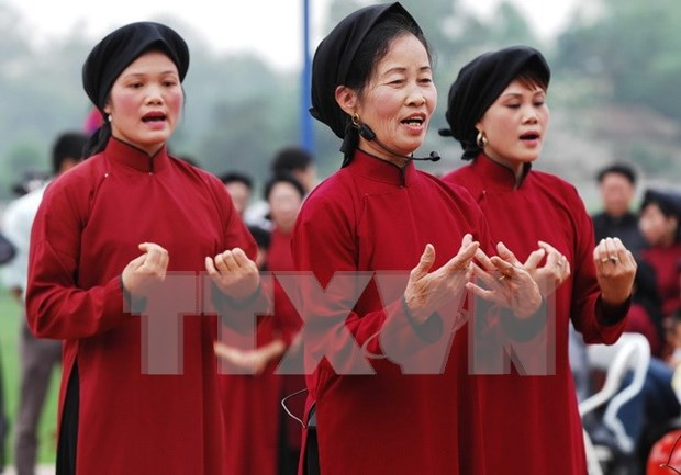Phu Tho opens Xoan singing exhibition ahead of Hung Kings Temple Festival hinh anh 1