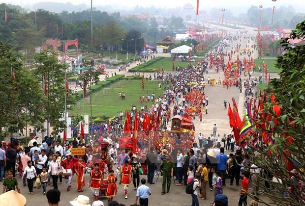 Photos, items on Hung King worship rituals on display hinh anh 1