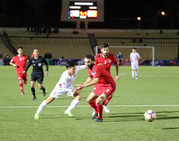 Vietnam, Afghanistan draw at Asian Cup 2019 qualifier hinh anh 1