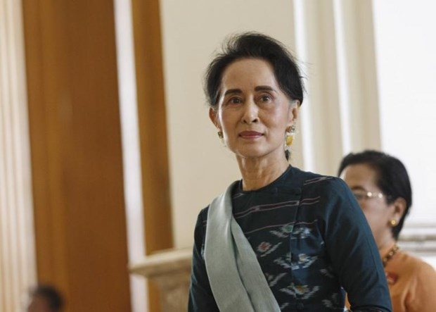 Myanmar state counselor vows to build federal union with peace hinh anh 1