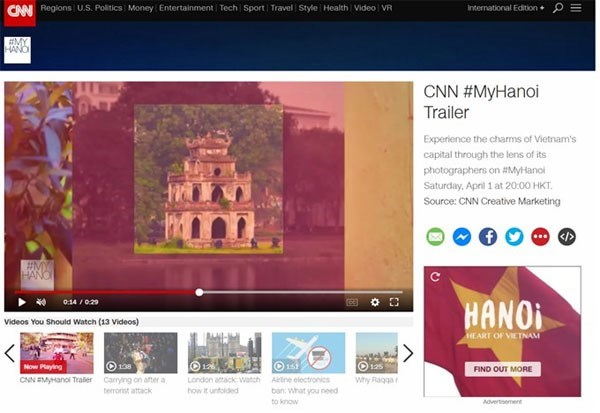 "CNN broadcasts ""My Hanoi"" programme hinh anh 1"