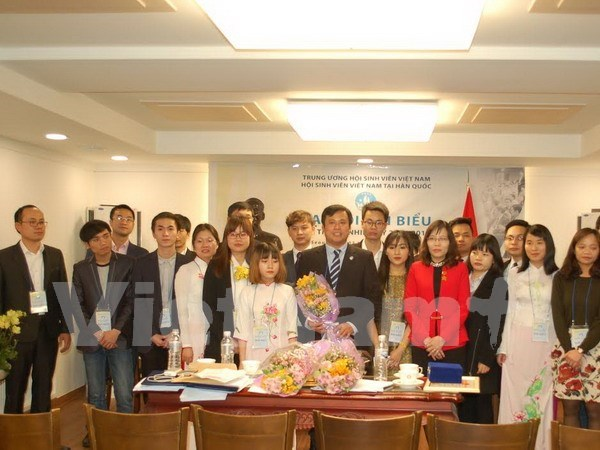 Vietnamese students in RoK hold sixth congress hinh anh 1