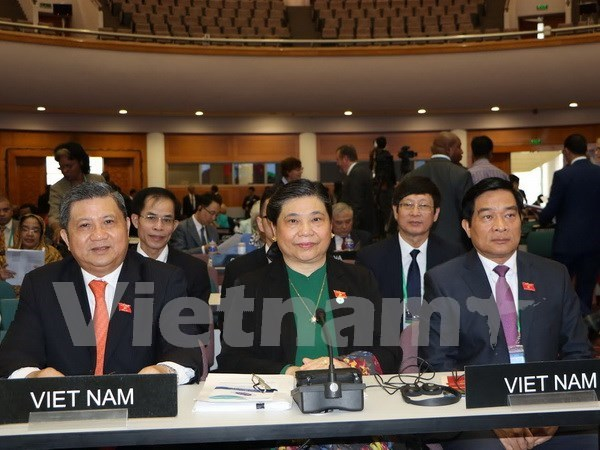 Vietnam active at Inter-Parliamentary Union meeting hinh anh 1