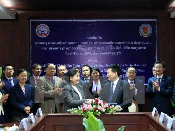 Vietnamese, Lao State audit offices enhance ties hinh anh 1