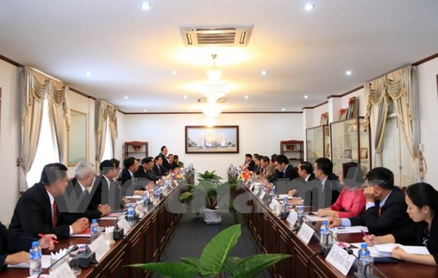 Vietnamese, Lao Presidential Offices cement relations hinh anh 1
