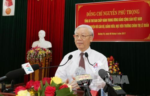 Party chief urges Quang Tri to fully tap resources for development hinh anh 1