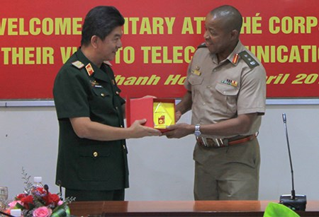 Foreign military attaches visit southern, central localities hinh anh 1