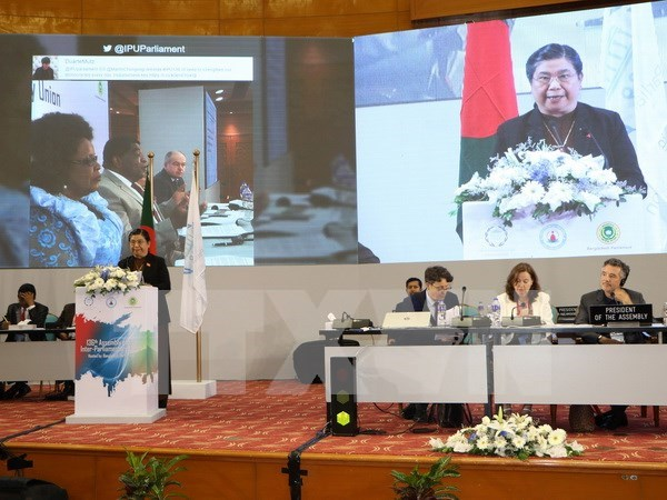 IPU 136 ends with Dhaka Declaration calling to end inequality hinh anh 1