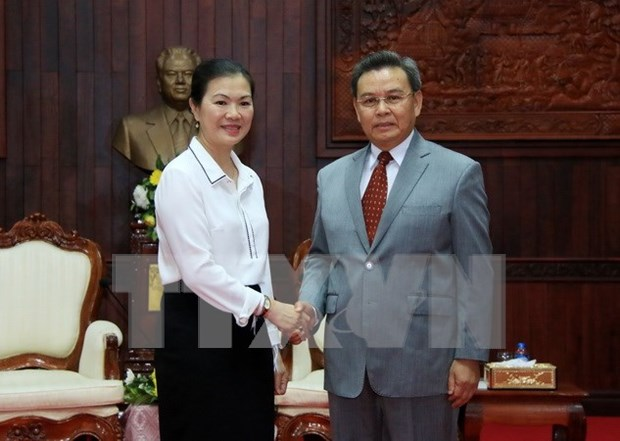 Vietnamese, Lao front agencies boost cooperation hinh anh 1