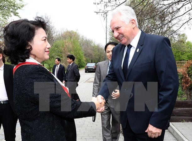 Vietnam's top legislator hails ties with Hungary hinh anh 1