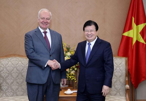 Deputy PM receives Russian, Irish ambassadors hinh anh 1