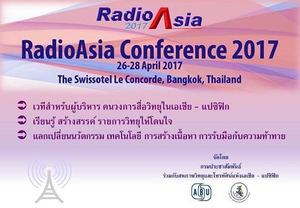 Thailand: PRD to host Radio Asia 2017 hinh anh 1