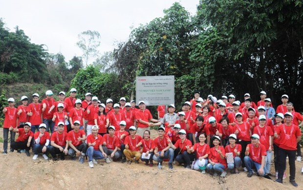 Canon pushes forest planting in Thanh Hoa hinh anh 1