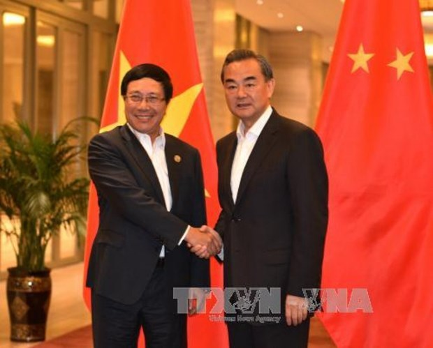 Vietnamese, Chinese foreign ministries boost cooperation hinh anh 1