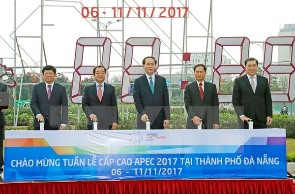 President inspects APEC Summit preparations in Da Nang hinh anh 1