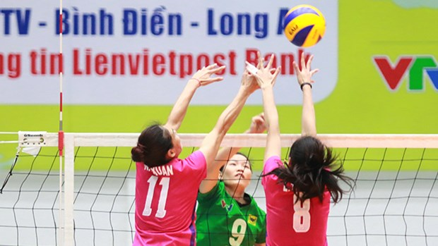 International women's volleyball tourney opens hinh anh 1