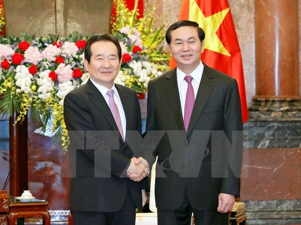 President receives RoK National Assembly Speaker hinh anh 1