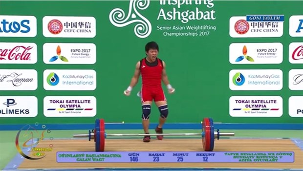 Vietnamese wins gold at Asian weightlifting champs hinh anh 1