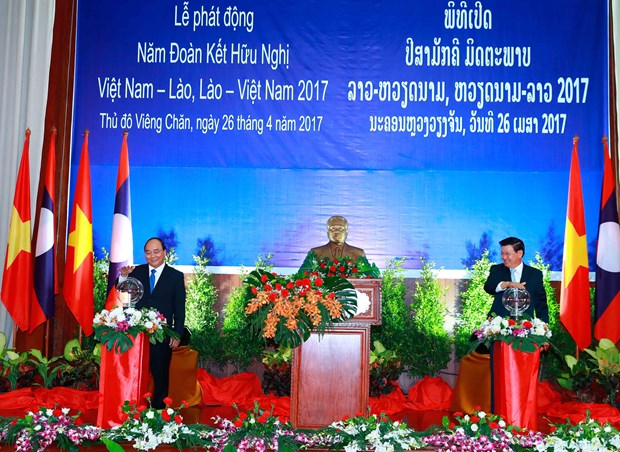 Vietnam, Laos launch year of solidarity, friendship hinh anh 1