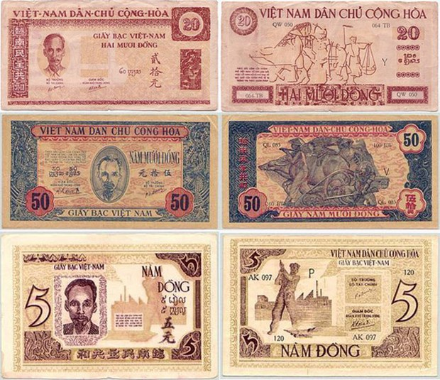 Currency history exhibition opens to mark Liberation Day hinh anh 1