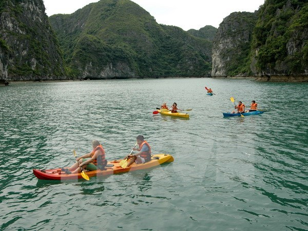 Kayak services on Ha Long Bay resume hinh anh 1